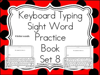 Keyboards Typing Sight Words Practice Books Set 8