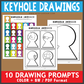 Keyhole Drawing Prompts