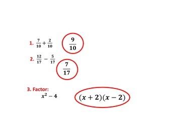 Keynote Presentation for Adding and Subtracting Rational Expressions