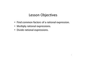 Keynote Presentation of Multiplying and Dividing Rational Expressions