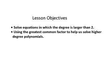 Keynote presentation of finding zeros of a polynomial