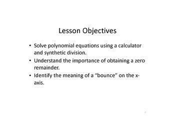 Keynote presentation of finding zeros using rational zeros theorem