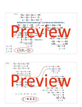 Keynote: solving systems of equations with 3 variables