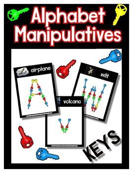 Keys  -  Manipulative Mats Upper & Lower Case Letters  Fine Motor Work