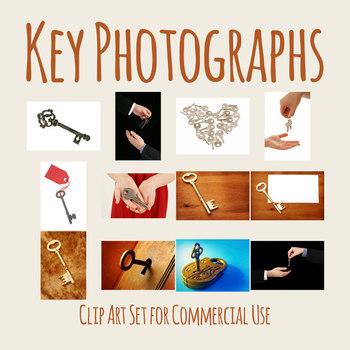 Keys Photos / Photographs Clip Art Set for Commercial use