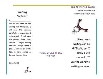 Keys To Success-Editable Writing Brochure/Contract