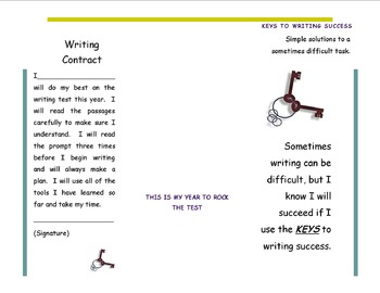 Keys To Success-Editable Writing Brochure/Contract