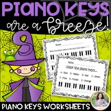 Piano Keys Worksheets: Keys Are A Breeze, Halloween Edition!