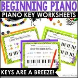 Piano Keys Worksheets: Keys Are A Breeze, Halloween Edition!