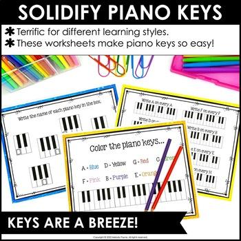 Piano Keys Worksheets: Keys are a Breeze!
