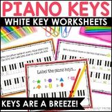Piano Keys Worksheets: Piano Keys are a Breeze!