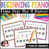 Piano Keys Worksheets: Piano Keys are a Breeze!