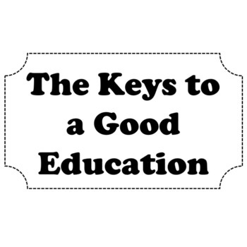 Keys for a Good Education: Bulletin Board Writing Back To School & Study Skills