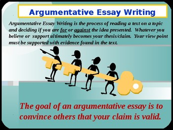 Argument Essay Writing Keys