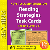 Reading Strategies Task Cards: Keys to Comprehension (Reading Level 3-5)