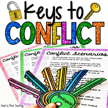 Keys to Conflict activity; lesson on conflict resolution, social skills