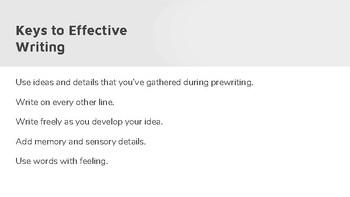 Keys to Effective Writing