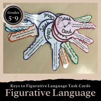 Keys to Figurative Language Task Cards: Grades 5-8