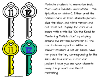 Keys to Math Facts--an incentive program