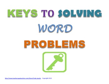 Keys to Solving Word Problems Math Posters