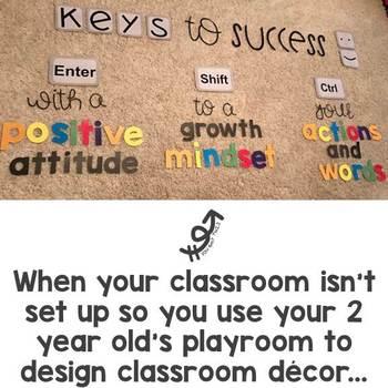 Keys to Success Classroom Sign