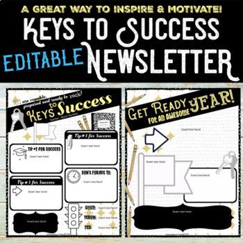 Keys to Success Newsletter Back to School FREEBIE!