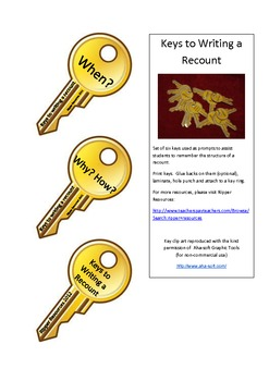 Keys to Writing a Recount