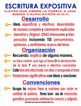 Keys to a Good Score Expository in Spanish