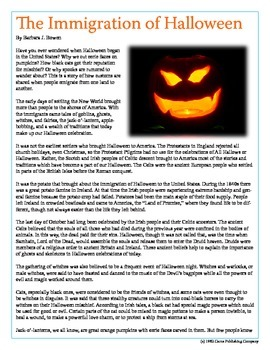 Keystone Test Prep: Nonfiction--The Immigration of Halloween