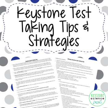 FREE Keystone Test Taking Tips and Strategies