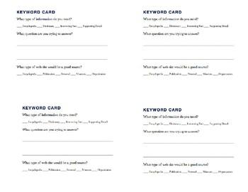 Keyword Card