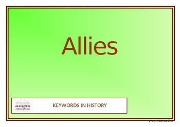 Keywords in History Posters