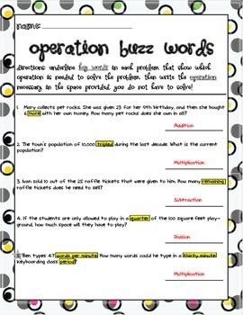 Keywords in Problem Solving