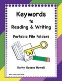 Keywords to Reading & Writing - Portable File Folders