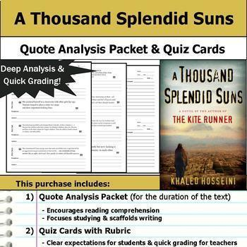 Khaled Hosseini Literature Unit - Kite Runner and A Thousand Splendid Suns