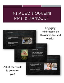 Khaled Hosseini The Kite Runner PPT and Handout