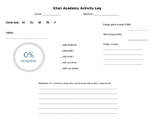 Khan Academy Activity Log