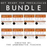 Get Ready for PreCalculus Math Lesson Plans BUNDLE