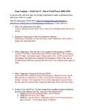 Khan Academy Video Guide - Beginning of WWII