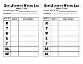 Khan Academy recording log