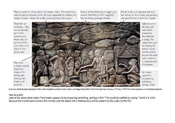 Khmer Empire / Angkor carving photograph analysis task