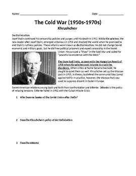 Khruschev & Brezhnev Cold War