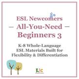 ESL/ELL Beginners Book 3 Bundle