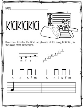 Kicikicikici: Chinese Game Song and Activities for Ta Ti-Ti and Fa