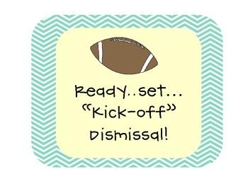 Kick Off Dismissal Clip Chart