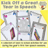 Kick Off a Great Year in Speech: A Collection of Back to S