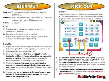 Kick Out - 5th Grade Game [CCSS 5.NBT.A.4]