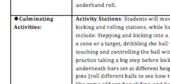 Adapted PE and PE: Kick, Roll and Catch