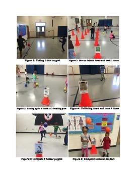 """""""Kick"""" Start Your Heart lesson for teaching & reinforcing soccer skills in PE"""