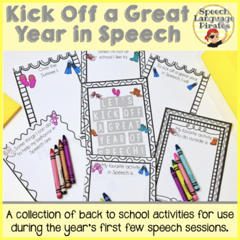 Kick Off a Great Year in Speech: A Collection of Back to School Activities